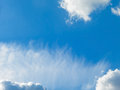 Blue sky and fluffy clouds white Royalty Free Stock Photo