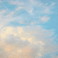 Blue sky and glow clouds Royalty Free Stock Photo