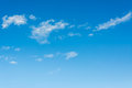 Blue sky image of with white cloud for background usage Royalty Free Stock Photography