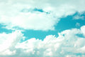 Title: Blue Sky with large clouds