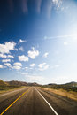 Blue Sky Over Empty Highway Royalty Free Stock Photo