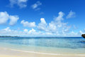 Blue sky of okinawa summer and beautiful ocean Royalty Free Stock Image