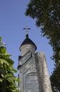 Blue sky over an Orthodox church in the Crimea Royalty Free Stock Photo
