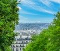 Blue sky over Paris cityscape Royalty Free Stock Photo