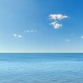 Blue sky over sea