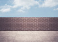 Blue sky over a wall Royalty Free Stock Photo