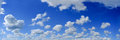 Blue sky panorama Royalty Free Stock Photo