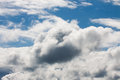 Blue sky and puffy clouds Royalty Free Stock Images