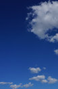 Blue sky with puffy clouds white Stock Photos