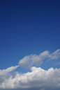 Blue sky with puffy clouds white Royalty Free Stock Photo