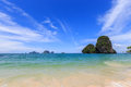 Blue sky railay krabi thailand Royalty Free Stock Photography