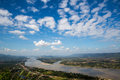 Blue sky and river from viewpoint Royalty Free Stock Photo