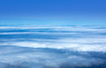 Blue sky sea of clouds in Canary Islands Stock Photography