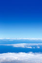 Blue sky sea of clouds from high altitude Royalty Free Stock Photo