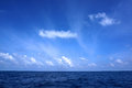 Blue sky on sea deep Stock Photography
