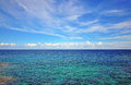 Blue sky and sea horizon Royalty Free Stock Photos