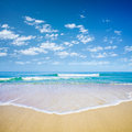 Blue sky and sea or ocean beach Royalty Free Stock Photography
