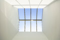Blue sky and skylight window Royalty Free Stock Photo