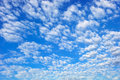 Blue sky with spectacular cloudscape Stock Photos