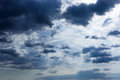 A blue sky with storm clouds. Royalty Free Stock Photo
