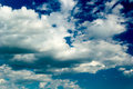 Blue sky with stratus clouds Royalty Free Stock Photos
