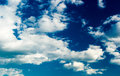 Blue sky with stratus clouds Royalty Free Stock Image