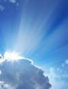 Blue sky and a sun Royalty Free Stock Photos