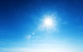 Blue sky and sun Royalty Free Stock Photo