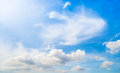 Blue sky in sunny day with cirrus cloud Stock Images