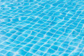 Blue sky swimming pool water texture reflection. Royalty Free Stock Photo
