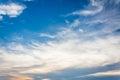Blue sky with tiny cloud