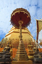 Blue sky Wat Pra Tard Chang Kum temple in Nan Province, Thailand Royalty Free Stock Images