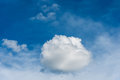 blue sky and white cloud . Royalty Free Stock Photo