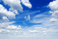 Blue sky white clouds in Royalty Free Stock Images