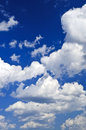 Blue sky with white clouds Stock Images