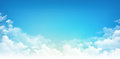 Blue sky white clouds Royalty Free Stock Photo