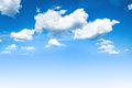Blue sky and white clouds spring background Stock Photo