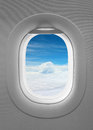 Blue sky window plane Royalty Free Stock Photo