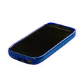 Blue smartphone with sleep mode screen Stock Images