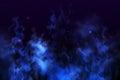 Blue smoke background Royalty Free Stock Photo
