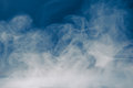 Blue smoke background and dense fog Royalty Free Stock Photo