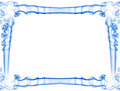 Blue smoke frame decorative abstract isolated over white background made of there is copy space to insert a text or an image Stock Photo