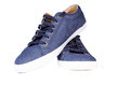Blue sneakers isoated Stock Images