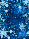 Blue Snow Background Stock Photo