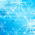 Blue snow flakes Royalty Free Stock Image