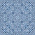 Blue snow pattern christmas with snowflakes vector illustration Royalty Free Stock Images