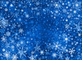 Blue Snow Storm Background Royalty Free Stock Image