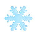 Blue snowflake. Royalty Free Stock Photo