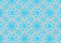 Blue snowflake pattern Royalty Free Stock Photography