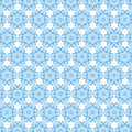 Blue snowflake pattern Royalty Free Stock Photos